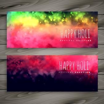 Błyszczące kolorowe transparenty holi