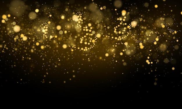 Błyszczące magiczne cząsteczki kurzu magiczna koncepcja abstrakcyjne tło z efektem bokeh
