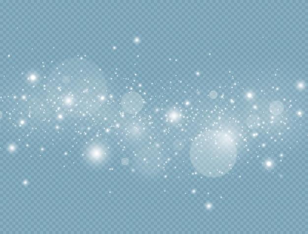 Błyszczące magiczne cząsteczki pyłu efekt blasku światła