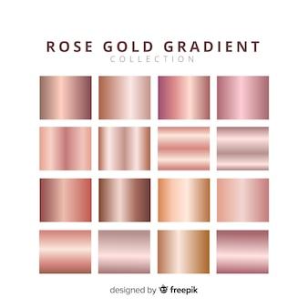 Błyszczące różane złoto pakiet gradientowy