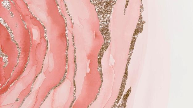 Błyszczące różowe tło pędzla akwarelowego