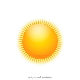 Błyszczące słońce