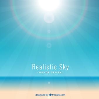Błyszczące tła realistyczne niebo