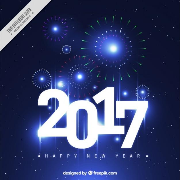 Błyszczące tła z fajerwerkami na nowy rok