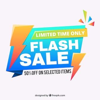 Błyszczące tło sprzedaży flash