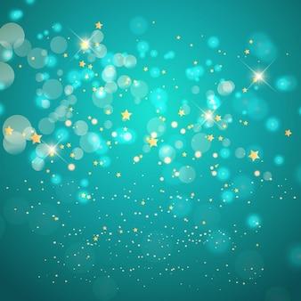 Błyszczące turquoise tle