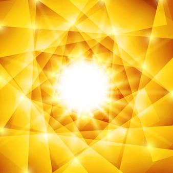 Błyszczące wielokątne żółty i brązowy tła
