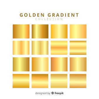 Błyszczące złote opakowanie gradientowe