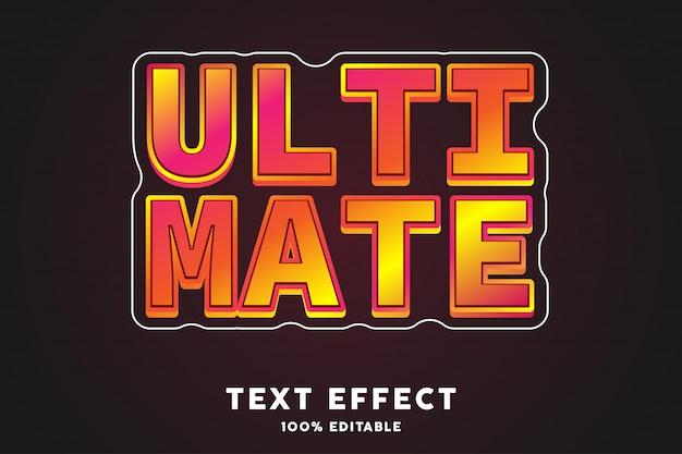 Błyszczący czerwony efekt ostatecznego stylu tekstu