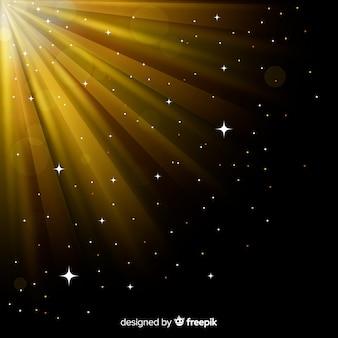 Błyszczący efekt świetlny wschodu słońca