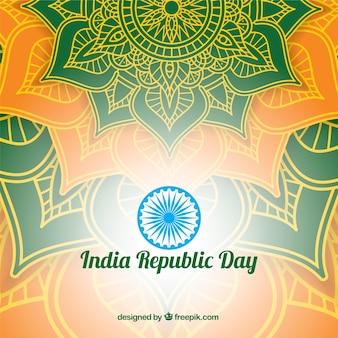 Błyszczący indyjski republika dnia projekt