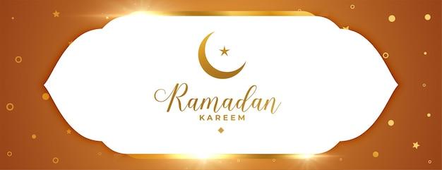Błyszczący islamski sztandar ramadan kareem