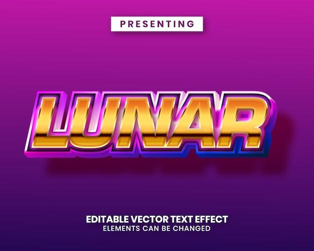 Błyszczący metaliczny purpurowy złoty błyszczący efekt edycji tekstu