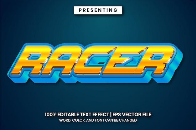 Błyszczący metalowy efekt tekstowy gradientu dla tytułu logo gry lub filmu animowanego