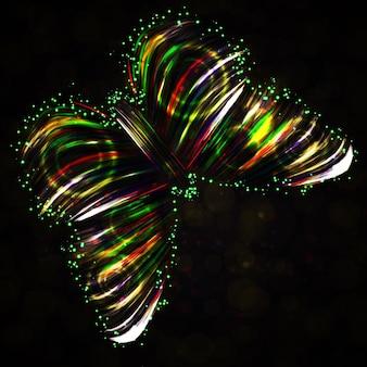 Błyszczący motyl streszczenie wektor, futurystyczny kolorowy pasek, stylowa ilustracja