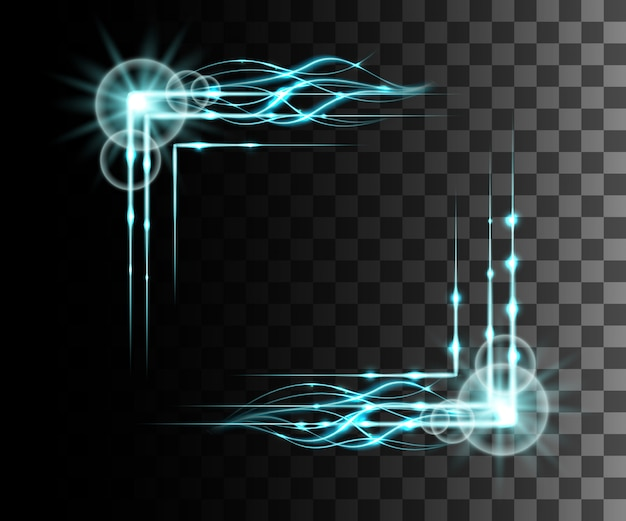 Błyszczący niebieski efekt przezroczystości, flara obiektywu, eksplozja, blask, linia, błysk słońca, iskra i gwiazdy. dla ilustracji szablonu grafiki, na boże narodzenie świętować, magiczny promień energii błysku