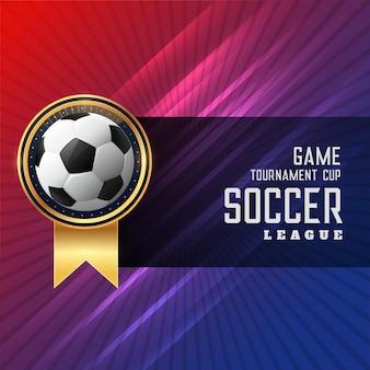 Błyszczący projekt piłki nożnej tle piłki nożnej
