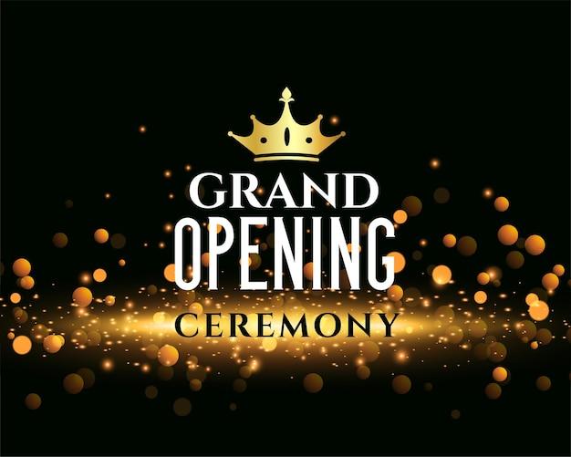 Błyszczący projekt szablonu ceremonii otwarcia