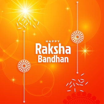 Błyszczący projekt tła festiwalu raksha bandhan