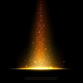 Błyszczący pył w złotym stylu