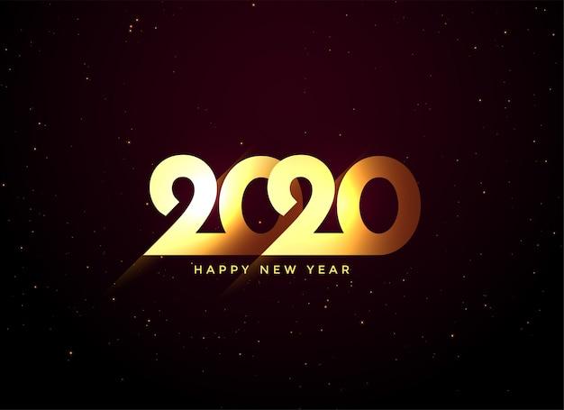Błyszczący złoty 2020 szczęśliwego nowego roku