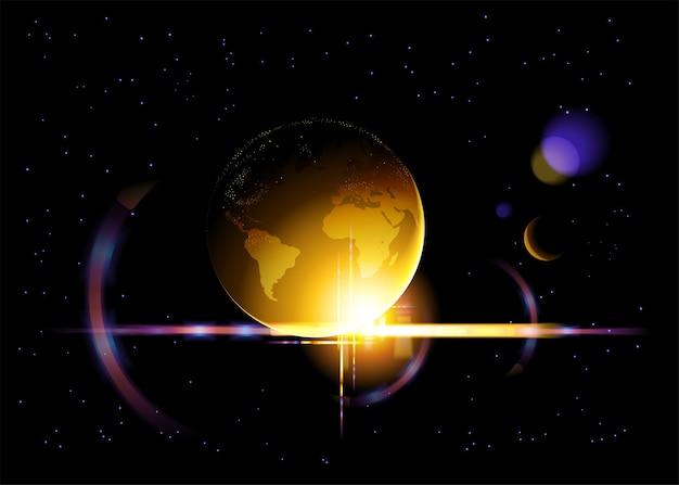 Błyszczący złoty glob