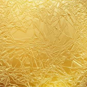 Błyszczący złoty papier tekstury lub metalowa złota folia