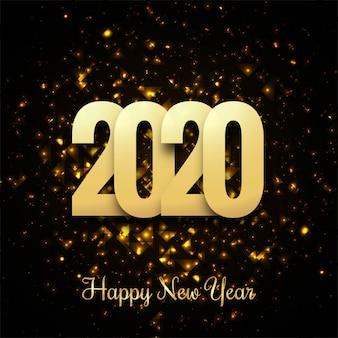 Błyszczący złoty szczęśliwego nowego roku 2019