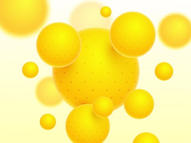 Błyszczący żółty abstrakcjonistyczny tło.