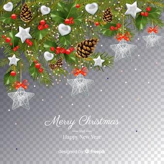 Boże Narodzenie i nowy rok przezroczyste tło