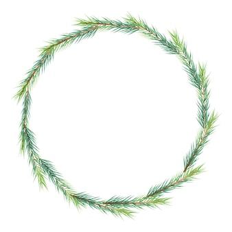 Boże Narodzenie minimalna sosna liści ramki wieniec