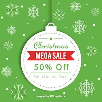 Boże Narodzenie sprzedaż tło w stylu retro