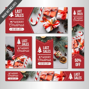 Boże Narodzenie sprzedaży banerów internetowych