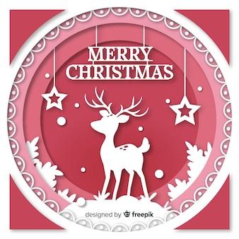 Boże Narodzenie tło w stylu cięcia papieru