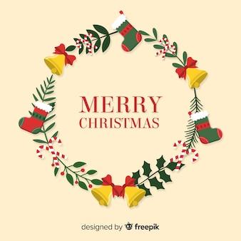Boże Narodzenie wieniec tle
