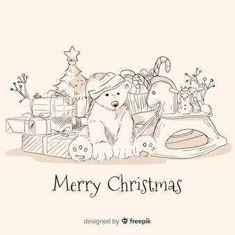 Boże Narodzenie zabawki tło
