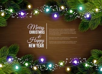 Bożonarodzeniowe światła borger dekoracji sezonowe pozdrowienia