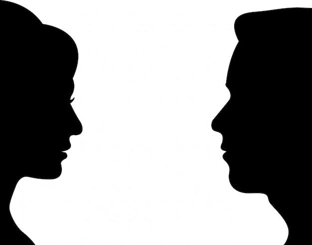 Boczny mężczyzna i kobiety