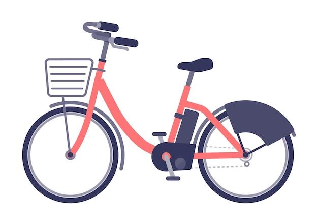 Boczny rower elektryczny.