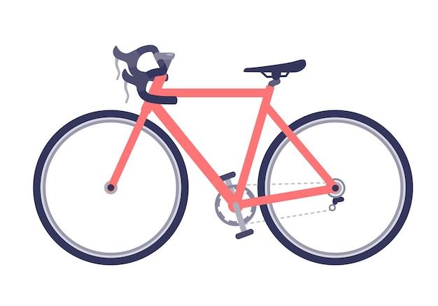 Boczny rower szosowy. kierowca szosowy.