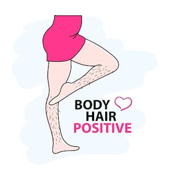 Body hair positive love your body feminizm