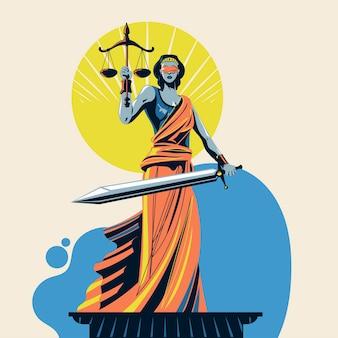 Bóg sprawiedliwości femida lub themis