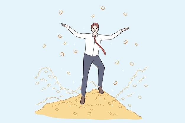 Bogactwo koncepcja sukcesu dobrego wynagrodzenia