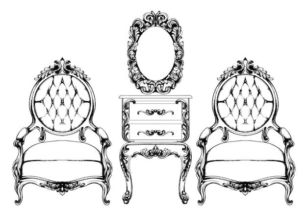 Bogaty barokowy fotel