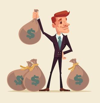 Bogaty Biznesmen. Premium Wektorów