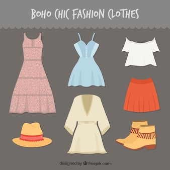 Boho-chic mody ubrania