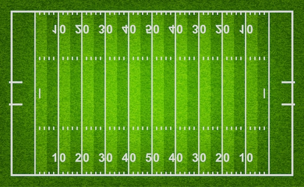 Boisko do futbolu amerykańskiego z teksturą trawy.