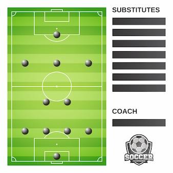 Boisko piłkarskie i formacja