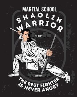 Bojownicy kung fu shaolin