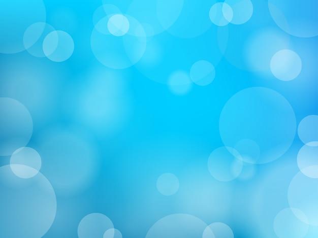 Bokeh efekt niebieskim tle